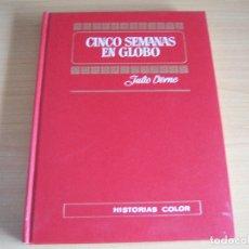 Libros de segunda mano: CINCO SEMANAS EN GLOBO, JULIO VERNE, EDITORIAL BRUGUERA, 1972. Lote 173513754