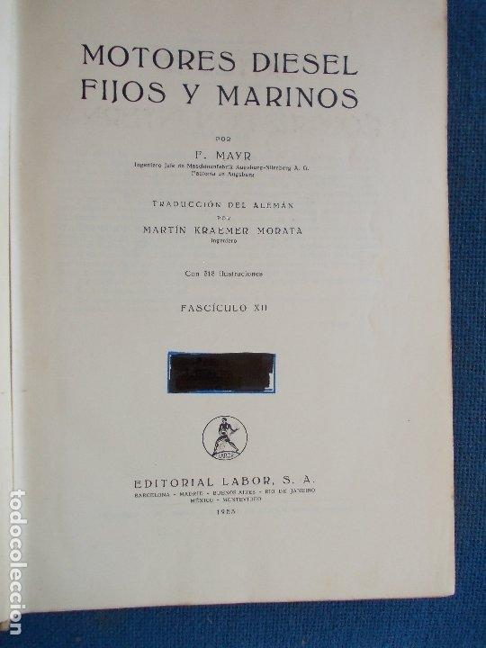 Libros de segunda mano: MOTORES DE COMBUSTION INTERNA DIESEL FIJOS Y MARINOS HANS LIST - Foto 3 - 173551277