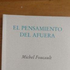 Libros de segunda mano: EL PENSAMIENTO DEL AFUERA MICHEL FOUCAULT EDITORIAL PRE-TEXTOS 2000 82PP. Lote 173559208