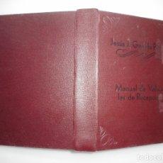 Libros de segunda mano: MANUAL DE VÁLVULAS DE RECEPCIÓN Y95575. Lote 173569414