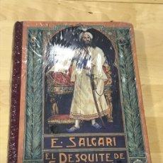 Libros de segunda mano: EL DESQUITE DE SANDOKAN - EMILIO SALGARI - PRECINTADO. Lote 194347887