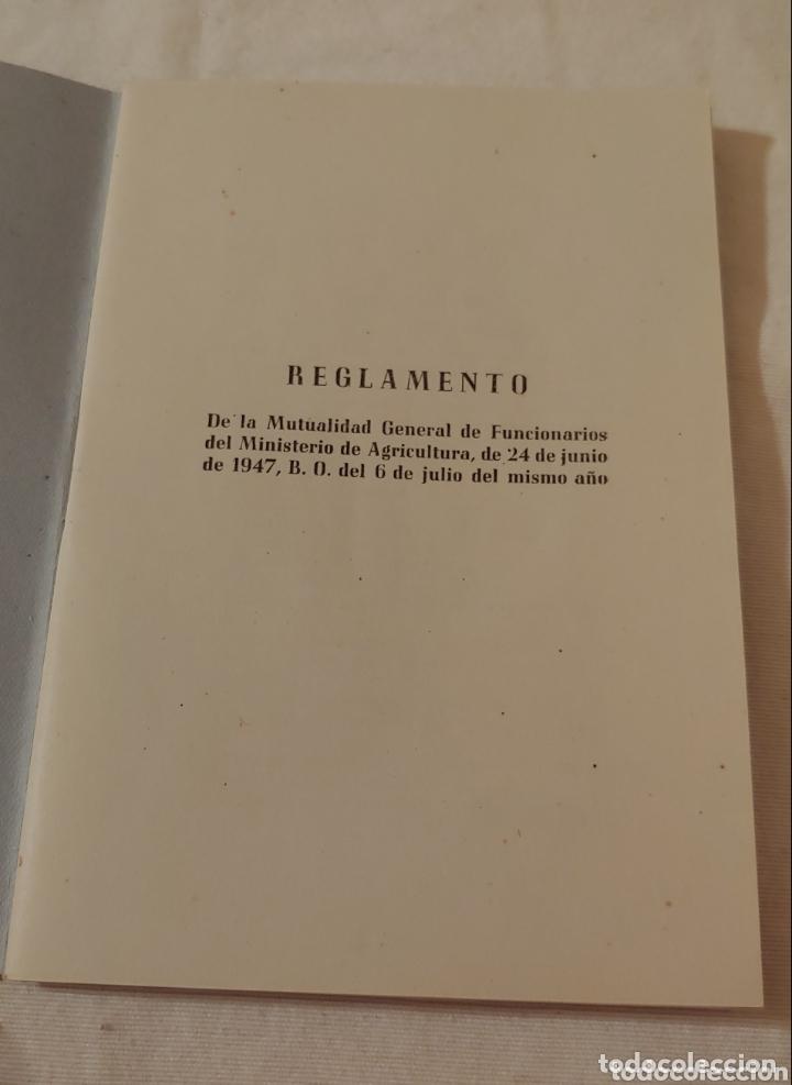 Libros de segunda mano: Reglamento 1947 Mutualidad Gral funcionarios M.Agricultura - Foto 2 - 173678417