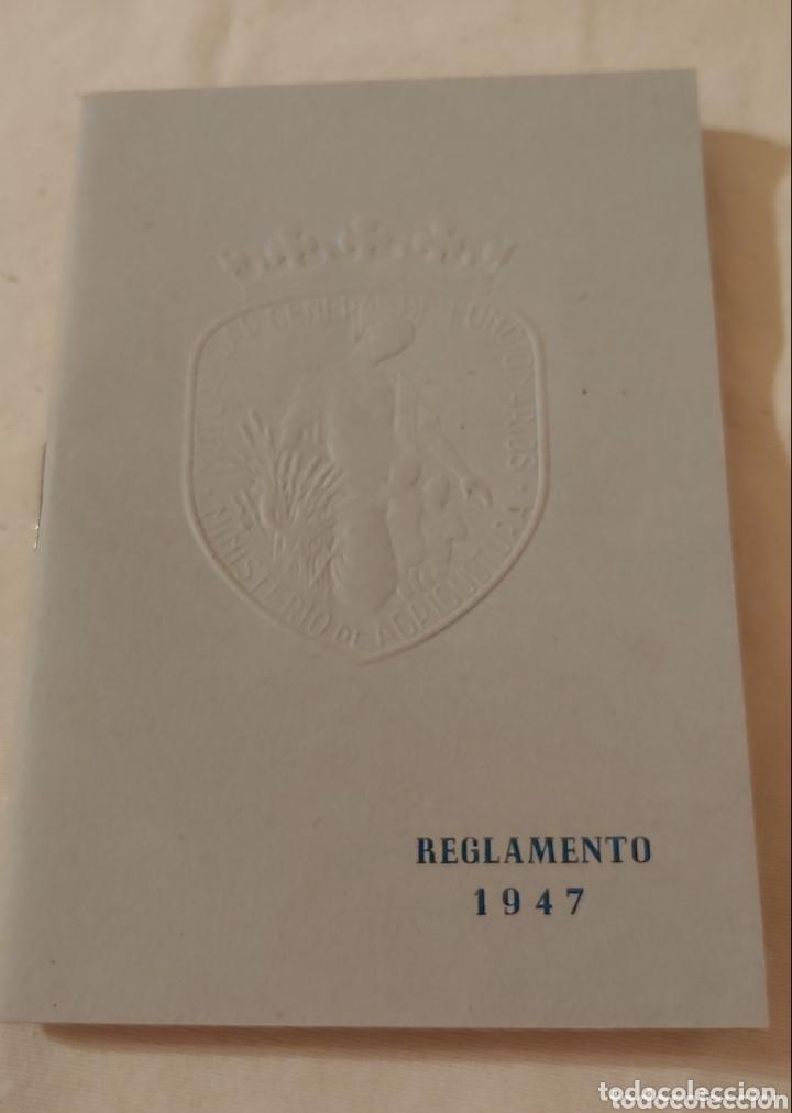 REGLAMENTO 1947 MUTUALIDAD GRAL FUNCIONARIOS M.AGRICULTURA (Libros de Segunda Mano - Ciencias, Manuales y Oficios - Otros)