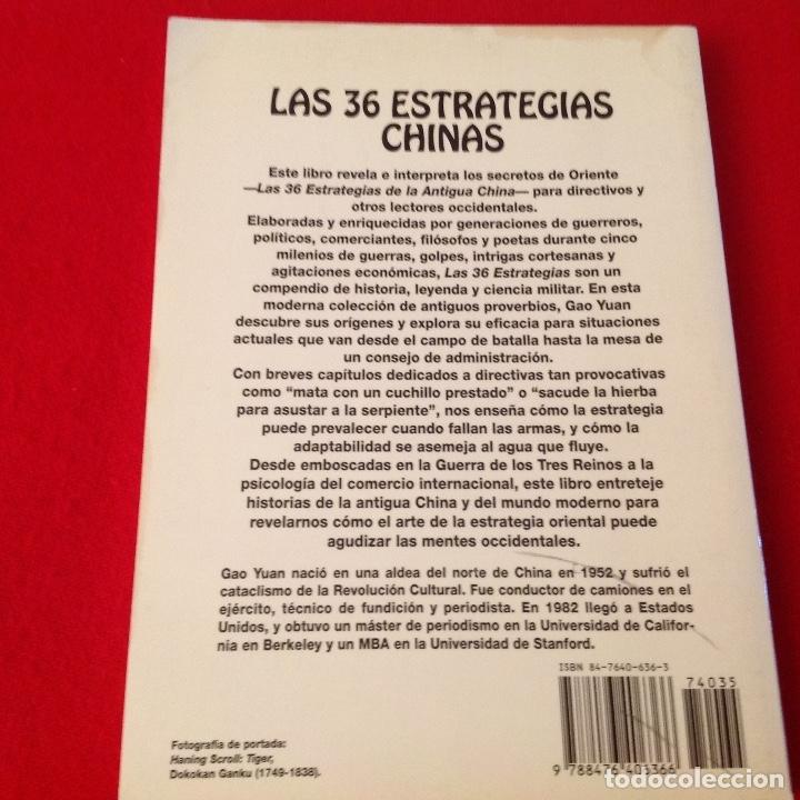 Libros de segunda mano: Las 36 estrategias chinas, una antigua sabiduría para el mundo de hoy, de Gao Yuan, Edaf 1993 - Foto 2 - 173797698