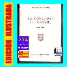 Libros de segunda mano: LA CONQUISTA DE TENERIFE - 1494 - 1496 - ANTONIO RUMEU DE ARMAS - AULA CULTURA TENERIFE - CANARIAS. Lote 173878927