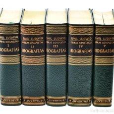 Libros de segunda mano: OBRAS COMPLETAS. BIOGRAFÍAS, I-II-III-IV-V (EDICIÓN COMPLETA EN 5 TOMOS) - LUDWIG, EMIL. Lote 173885923