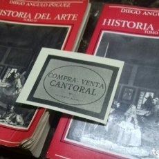 Libros de segunda mano: HISTORIA DEL ARTE. DIEGO ANGULO IÑIGUEZ. 2 TOMOS. Lote 174037822