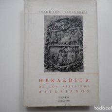 Libros de segunda mano: FRANCISCO SARANDESES HERÁLDICA DE LOS APELLIDOS ASTURIANOS Y95630. Lote 174072145