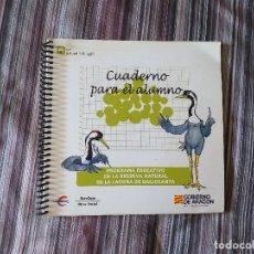 Libros de segunda mano: CUADERNO DIDÁCTICO LAGUNA DE GALLOCANTA RED NATURAL ARAGÓN SIN USO CON PEGATINAS. Lote 174126930