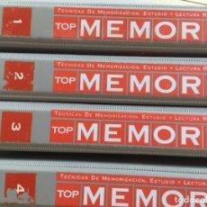 Libros de segunda mano: TOP MEMORY. TÉCNICAS DE MEMORIZACIÓN, ESTUDIO Y LECTURA RÁPIDA. 4 TOMOS - VV.AA. ORBIS. Lote 174355933