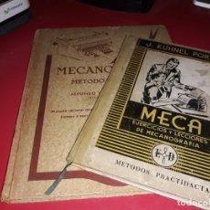 Libros de segunda mano: 2 LIBROS ANTIGUOS DE MACANOGRAFIA MECANOGRAFIA EDITORIAL MIQUEL 1972 Y MECA . Lote 174374479