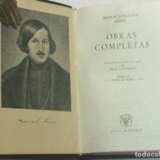 Libros de segunda mano: GOGOL OBRAS COMPLETAS - AGUILAR COLECCIÓN JOYA AÑO 1964. Lote 174415024