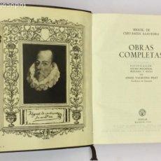 Libros de segunda mano: MIGUEL DE CERVANTES OBRAS COMPLETAS - AGUILAR OBRAS ETERNAS AÑO 1956 10ª EDICIÓN. Lote 174415589