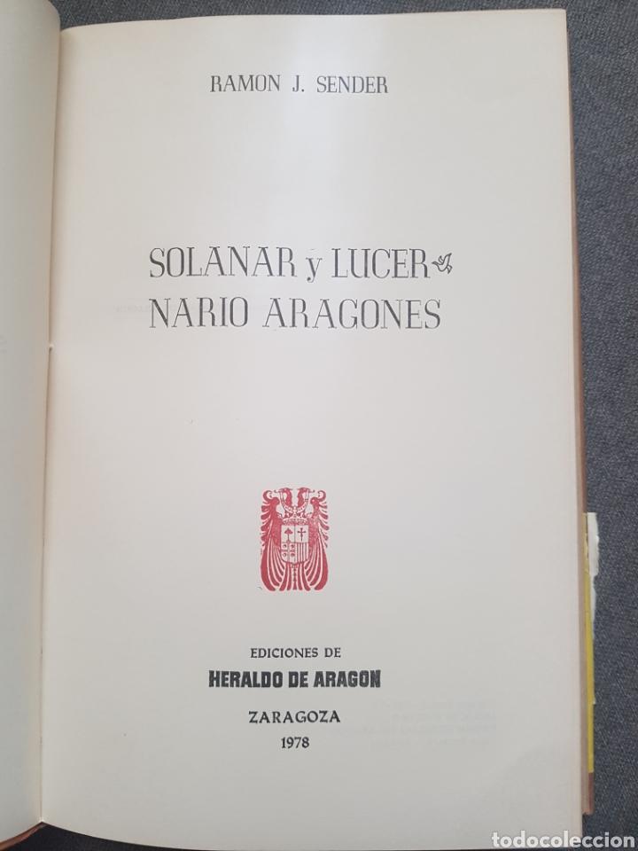 Libros de segunda mano: Libro Ramón J. Sender Solanar y Lucernario Aragonés Ediciones de Heraldo Aragon Zaragoza 1978 - Foto 2 - 174445133