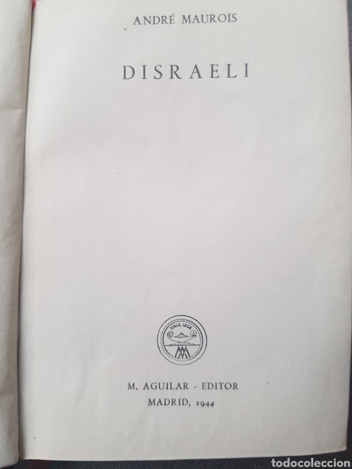 Libros de segunda mano: Libro André Maurois Disraeli 1944 Editor Aguilar. Con hoja con la lista de Colección crisol. - Foto 3 - 174445942