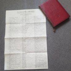 Libros de segunda mano: LIBRO ANDRÉ MAUROIS DISRAELI 1944 EDITOR AGUILAR. CON HOJA CON LA LISTA DE COLECCIÓN CRISOL.. Lote 174445942