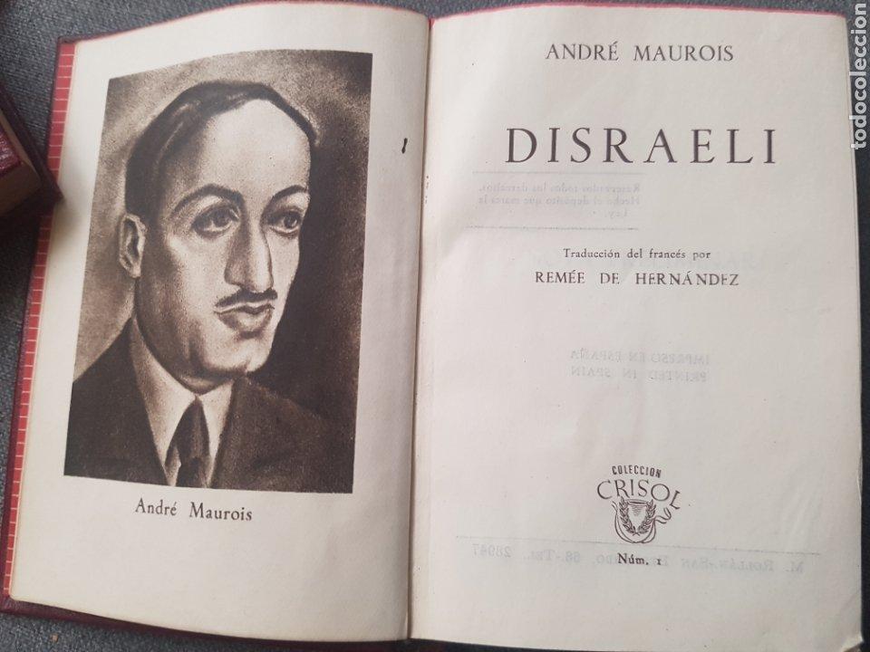 Libros de segunda mano: Libro André Maurois Disraeli 1944 Editor Aguilar. Con hoja con la lista de Colección crisol. - Foto 2 - 174445942