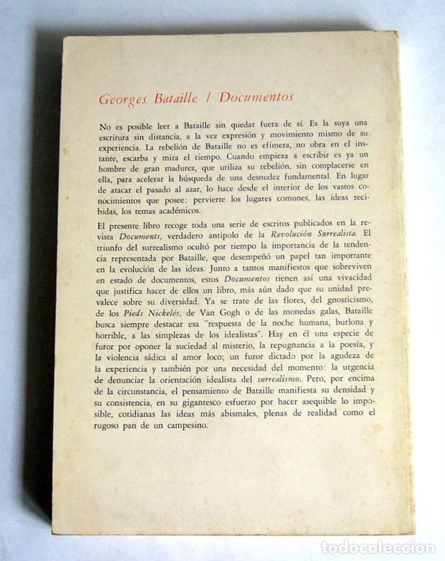Libros de segunda mano: DOCUMENTOS - ENSAYOS - GEOGES BATAILLE - MONTE AVILA EDITORES. VENEZUELA - Foto 2 - 174535920