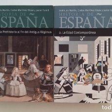 Libros de segunda mano: HISTORIA DE ESPAÑA 1 Y 2. JOSE LUIS MARTIN. CARLOS MARTINEZ SHAW. JAVIER TUSSELL. 2 VOLUMENES TDK411. Lote 174543468