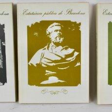 Libros de segunda mano: L-1248. ESTATUARIA PUBLICA DE BARCELONA. MANUEL GARCIA MARTIN. 3 TOMOS. . Lote 174585907