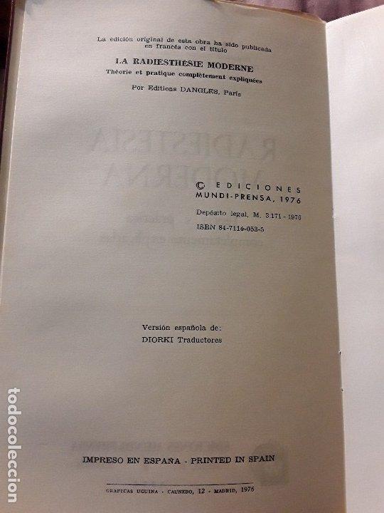 Libros de segunda mano: Radiestesia moderna, de A. Luzy. Único en tc. Mundi-Prensa, 1976. - Foto 3 - 174638295