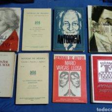 Libros de segunda mano: LOTE 8 LIBROS POESIA,HITORIA ECT. Lote 174991647