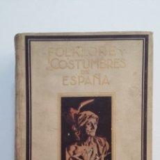Libros de segunda mano: FOLKLORE Y COSTUMBRES DE ESPAÑA. TOMO II. LA CANCIÓN TRADICIONAL ESPAÑOLA. EDUARDO M. TORNER. TDK404. Lote 175004985