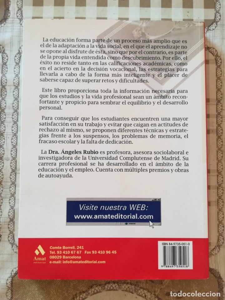 Libros de segunda mano: Cómo ayudar a nuestros hijos a superar los estudios y elegir carrera - Ángeles Rubio - Foto 2 - 175016575