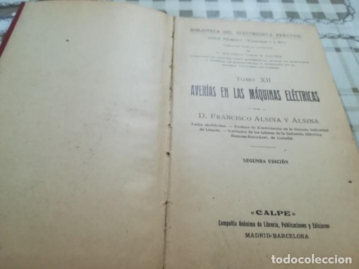 Libros de segunda mano: Averías en las máquinas eléctricas - Biblioteca del electricista práctico nº 12 - Foto 4 - 175021414