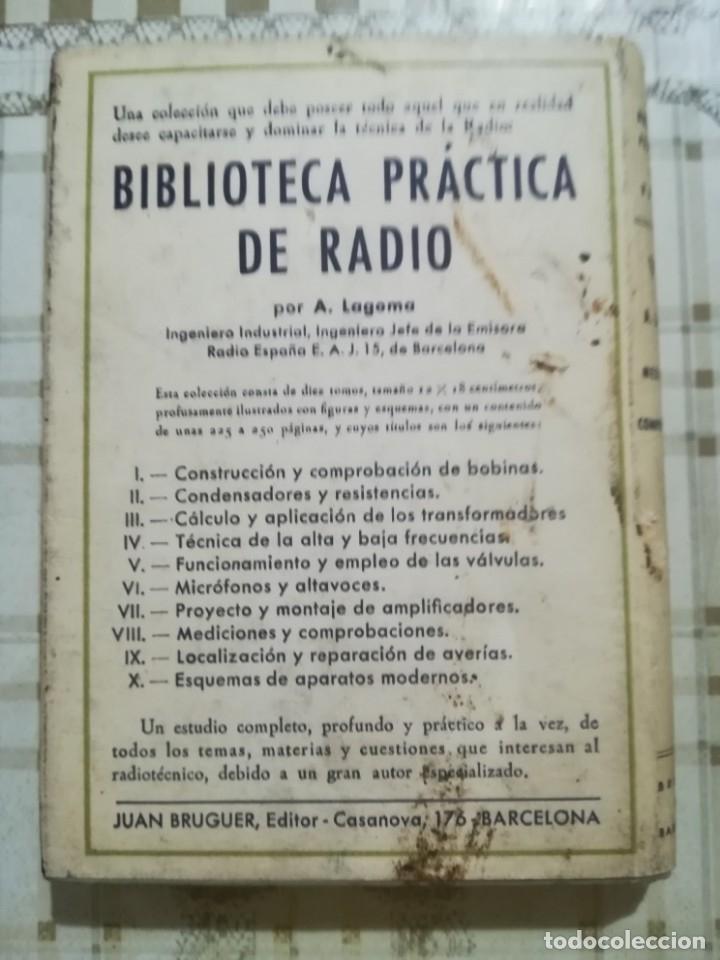 Libros de segunda mano: Mediciones y comprobaciones. Biblioteca práctica de radio VIII - A. Lagoma - 1971 - Foto 2 - 175026120