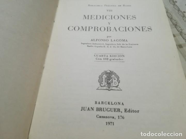 Libros de segunda mano: Mediciones y comprobaciones. Biblioteca práctica de radio VIII - A. Lagoma - 1971 - Foto 3 - 175026120