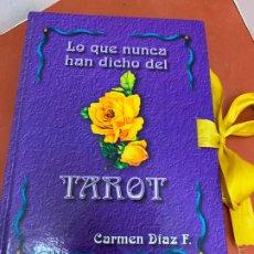 Libros de segunda mano: LO QUE NUNCA HAN DICHO DEL TAROT . 159PAGS, DEDICATORIA EN LA TAPA INTERIOR. MIDE 22X16CM. Lote 175026278