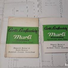 Libros de segunda mano: CORTE Y CONFECCION MARTI. MODISTERIA. TRAJES CAMISERO, BLUSAS, FALDAS. DEL NAC SECCION FEMENINA. W. Lote 175041222