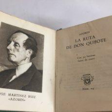 Libros de segunda mano: CRISOLIN N.04. AZORÍN. LA RUTA DE DON QUIJOTE. CON 32 LÁMINAS FUERA DE TEXTO. AGUILAR.1951.. Lote 175046009