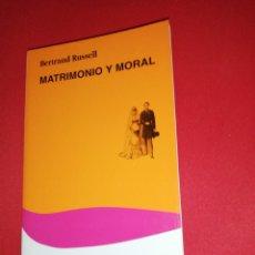 Libros de segunda mano: BERTRAND RUSSELL, MATRIMONIO Y MORAL . Lote 175072629