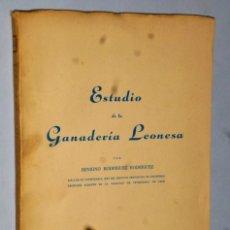 Libros de segunda mano: ESTUDIO DE LA GANADERÍA LEONESA. Lote 175076692