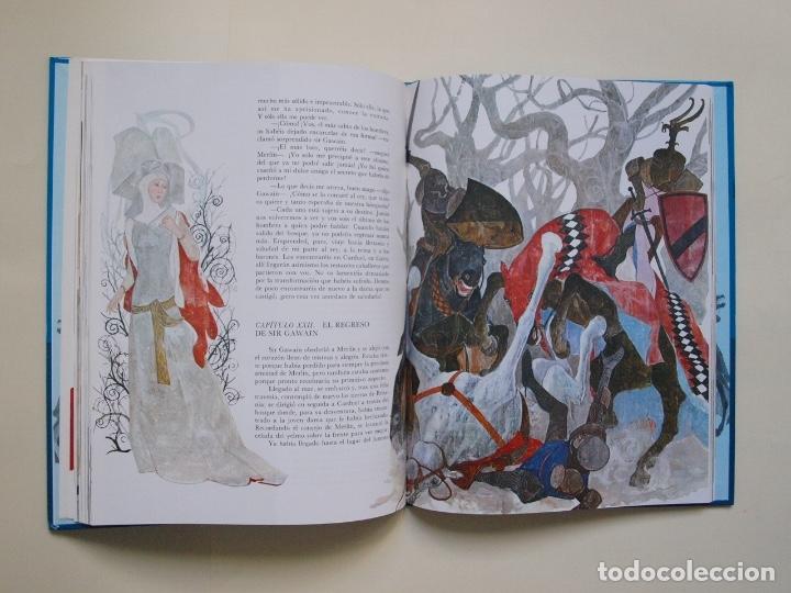 Libros de segunda mano: LOS CABALLEROS DEL REY ARTURO - CLÁSICOS COLOR EDELVIVES - ILUSTRACIONES DE GIANNI - LUÍS VIVES 1988 - Foto 6 - 175087864