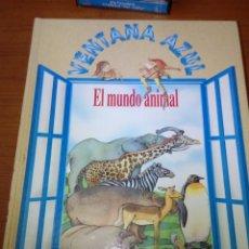 Libros de segunda mano: VENTANA AZUL. EL MUNDO ANIMAL. ENCICLOPEDIA INFANTIL. EST8B4. Lote 175195365