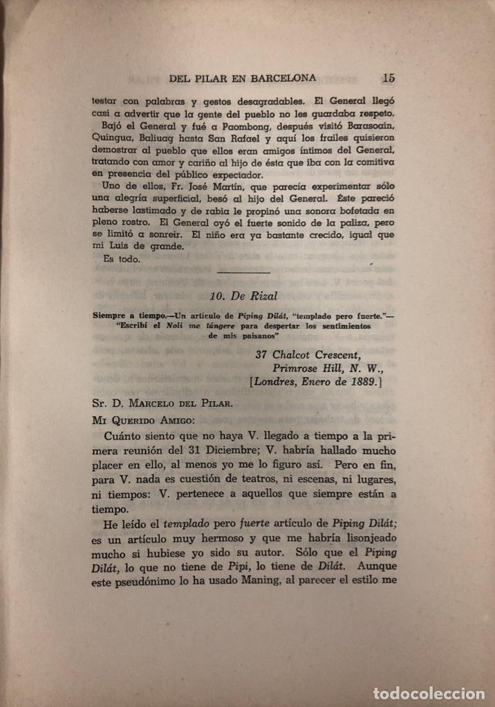 Libros de segunda mano: EPISTOLARIO DE MARCELO H. DEL PILAR. TOMO I. IMPRENTA DEL GOBIERNO. MANILA, 1955. PAGINAS: 310. - Foto 4 - 175500642