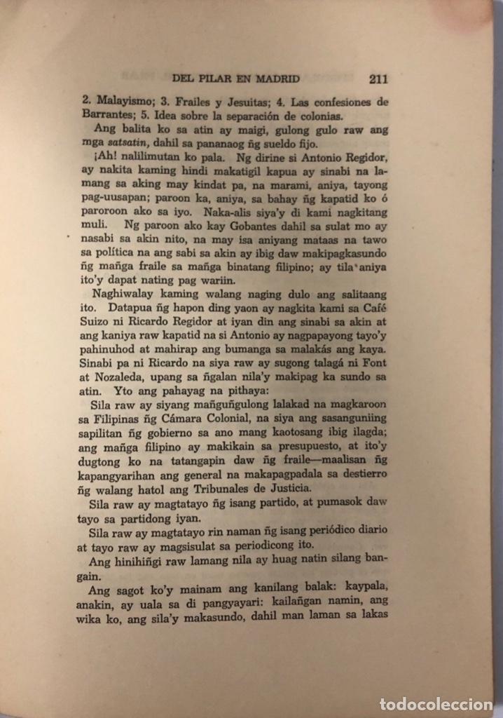 Libros de segunda mano: EPISTOLARIO DE MARCELO H. DEL PILAR. TOMO I. IMPRENTA DEL GOBIERNO. MANILA, 1955. PAGINAS: 310. - Foto 6 - 175500642