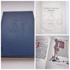 Libros de segunda mano: TRATADO DE ARQUITECTURA TIPOGRÁFICA (1948) - CARLO FRASSINELLI. Lote 175544224