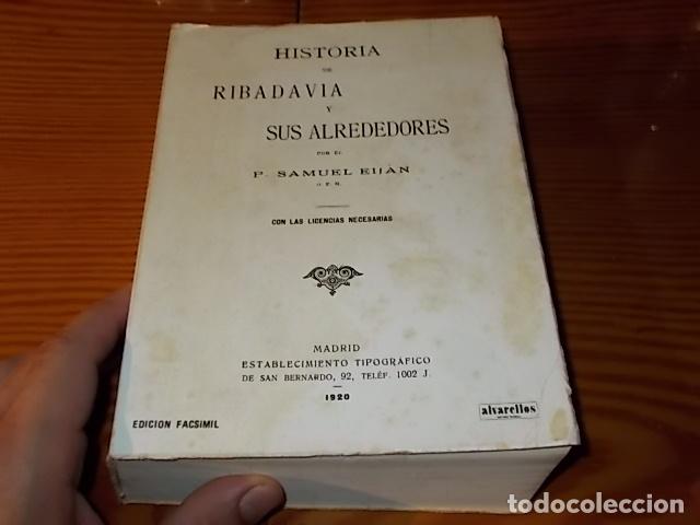 Libros de segunda mano: HISTORIA DE RIBADAVIA Y SUS ALREDEDORES . P. SAMUEL EIJÁN . EDICIÓN FACSÍMIL. 1981 . LUGO - Foto 2 - 218846118