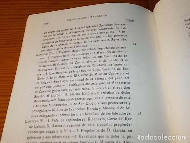 Libros de segunda mano: HISTORIA DE RIBADAVIA Y SUS ALREDEDORES . P. SAMUEL EIJÁN . EDICIÓN FACSÍMIL. 1981 . LUGO - Foto 15 - 218846118
