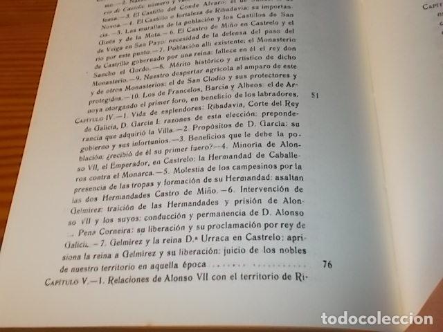 Libros de segunda mano: HISTORIA DE RIBADAVIA Y SUS ALREDEDORES . P. SAMUEL EIJÁN . EDICIÓN FACSÍMIL. 1981 . LUGO - Foto 16 - 218846118