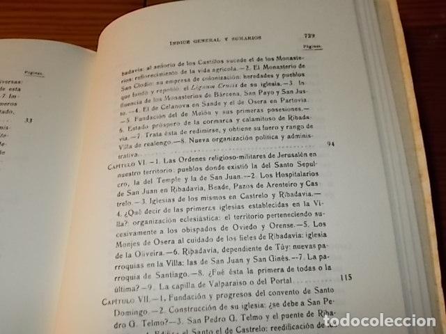 Libros de segunda mano: HISTORIA DE RIBADAVIA Y SUS ALREDEDORES . P. SAMUEL EIJÁN . EDICIÓN FACSÍMIL. 1981 . LUGO - Foto 17 - 218846118