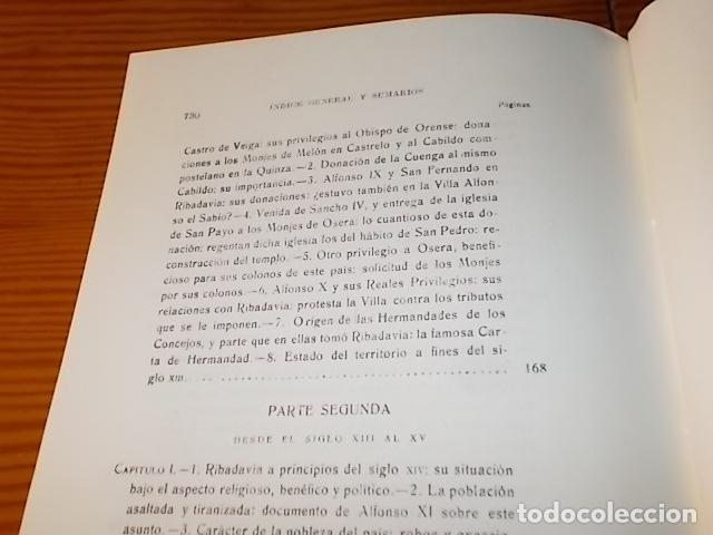Libros de segunda mano: HISTORIA DE RIBADAVIA Y SUS ALREDEDORES . P. SAMUEL EIJÁN . EDICIÓN FACSÍMIL. 1981 . LUGO - Foto 19 - 218846118