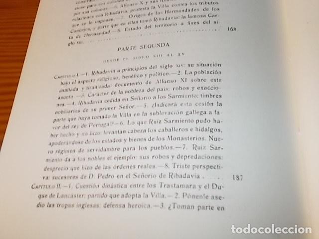 Libros de segunda mano: HISTORIA DE RIBADAVIA Y SUS ALREDEDORES . P. SAMUEL EIJÁN . EDICIÓN FACSÍMIL. 1981 . LUGO - Foto 20 - 218846118