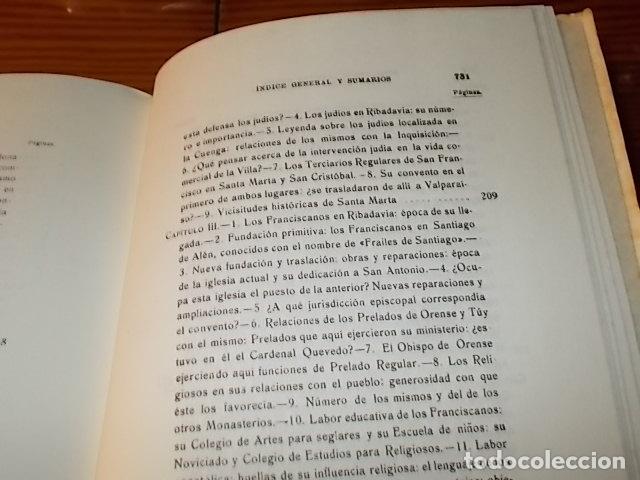 Libros de segunda mano: HISTORIA DE RIBADAVIA Y SUS ALREDEDORES . P. SAMUEL EIJÁN . EDICIÓN FACSÍMIL. 1981 . LUGO - Foto 21 - 218846118