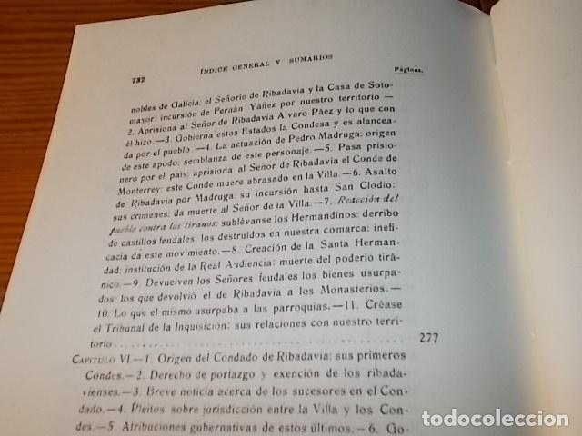 Libros de segunda mano: HISTORIA DE RIBADAVIA Y SUS ALREDEDORES . P. SAMUEL EIJÁN . EDICIÓN FACSÍMIL. 1981 . LUGO - Foto 23 - 218846118