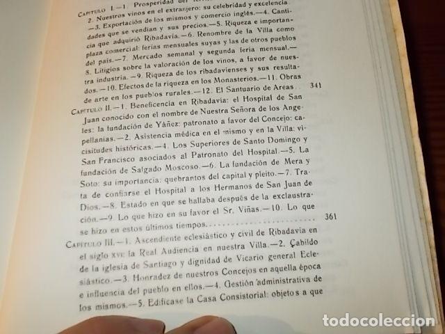 Libros de segunda mano: HISTORIA DE RIBADAVIA Y SUS ALREDEDORES . P. SAMUEL EIJÁN . EDICIÓN FACSÍMIL. 1981 . LUGO - Foto 26 - 218846118